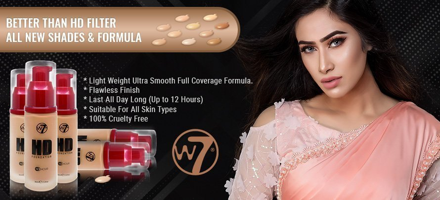 W7 12 Hour HD Foundation - New Ultra Smooth Full Coverage Formula